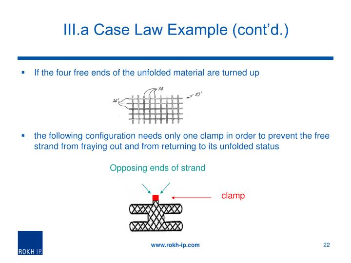III.a Case Law Example (cont'd.)