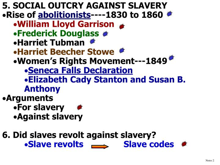 5. SOCIAL OUTCRY AGAINST SLAVERY