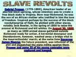 slave revolts prosser