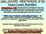 slave revolts stono