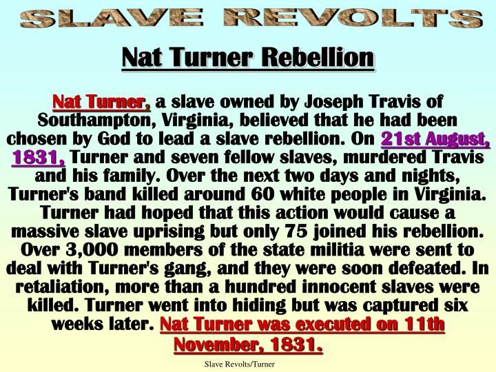 Slave Revolts/Turner