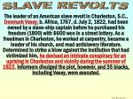 slave revolts vessey