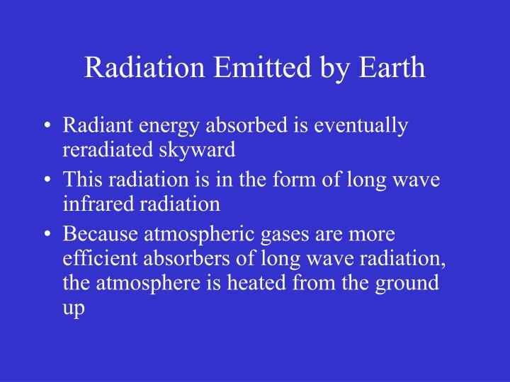 Radiation Emitted by Earth