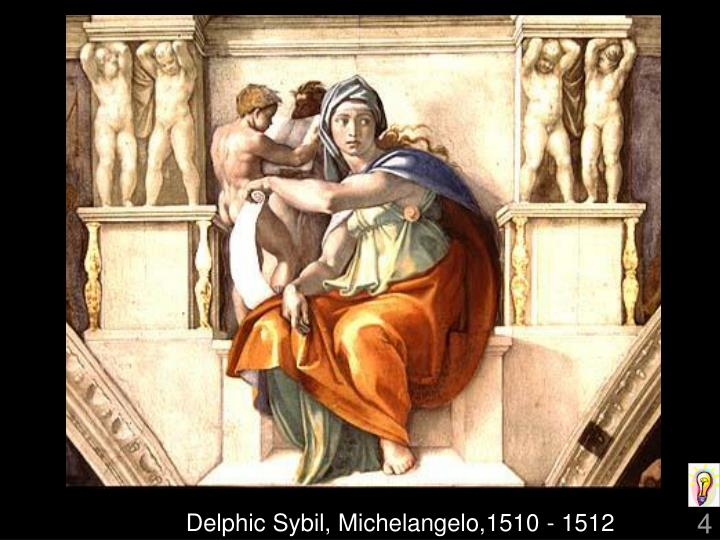 Delphic Sybil, Michelangelo,1510 - 1512