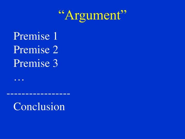 """""""Argument"""""""