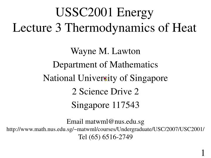 Ussc2001 energy lecture 3 thermodynamics of heat