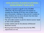 high school plan educational development plan edp