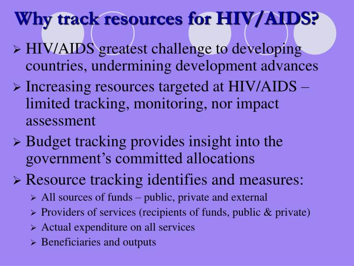 Why track resources for HIV/AIDS?