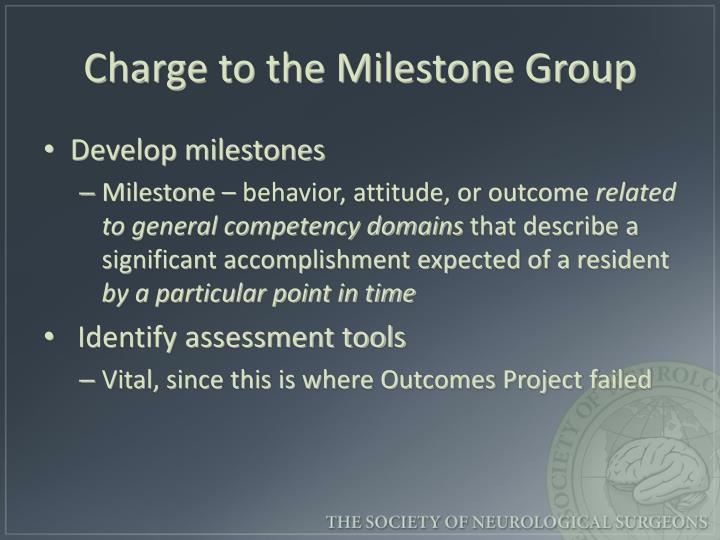 Charge to the Milestone Group