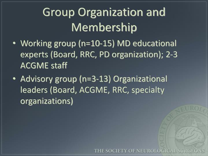 Group Organization and Membership