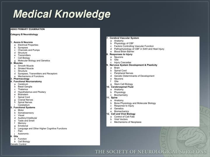 Medical Knowledge