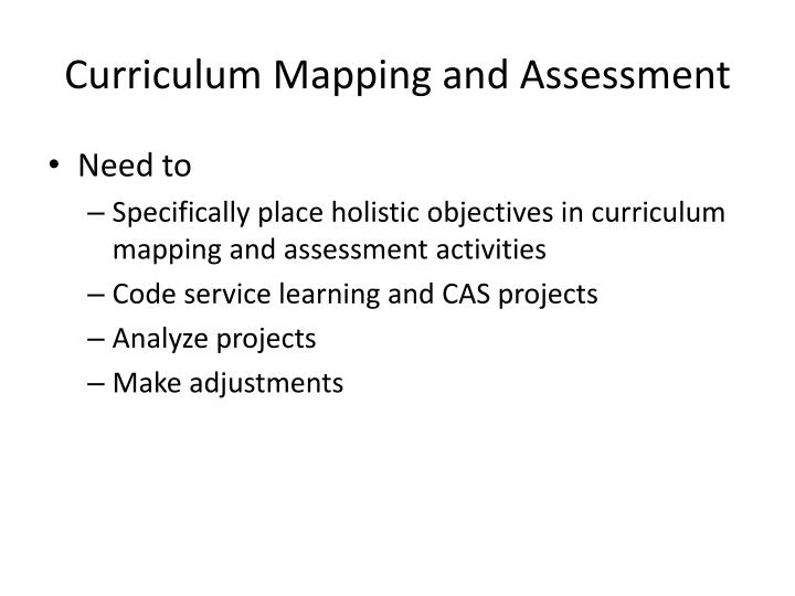 Curriculum Mapping and Assessment