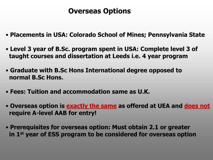 Overseas Options