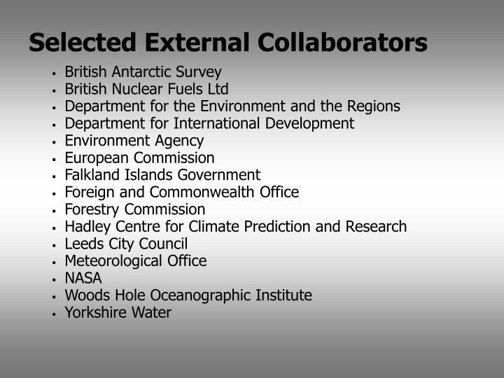 Selected External Collaborators