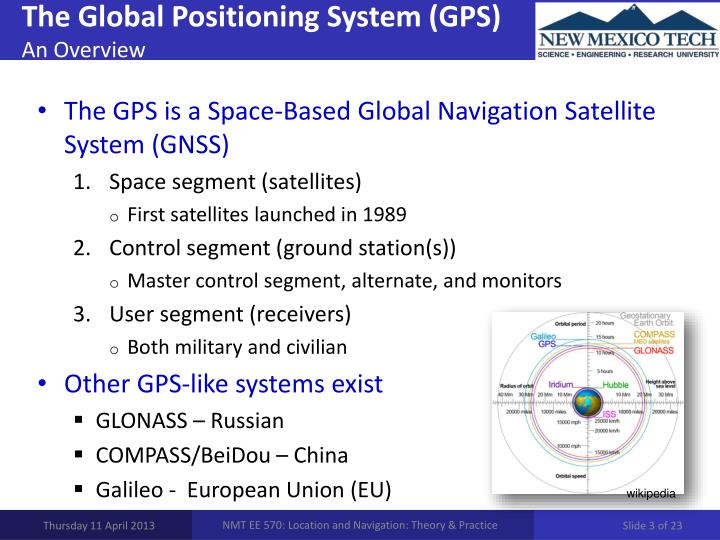 An overview of the gps or global positioning system