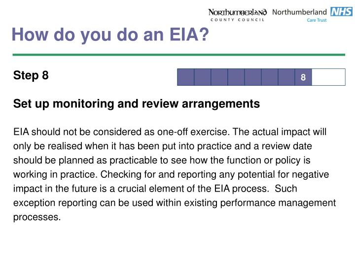 How do you do an EIA?