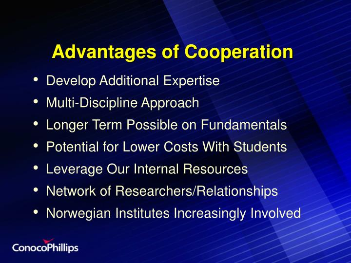 Advantages of Cooperation