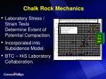 chalk rock mechanics