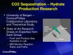 co2 sequestration hydrate production research