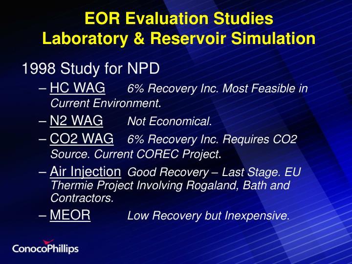 EOR Evaluation Studies