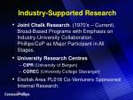 industry supported research