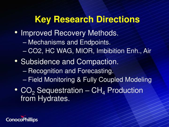 Key Research Directions