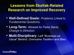 lessons from ekofisk related research on improved recovery