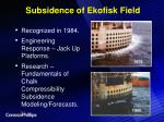subsidence of ekofisk field