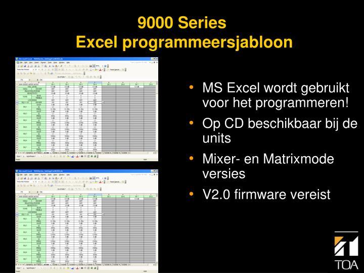 MS Excel wordt gebruikt voor het programmeren!