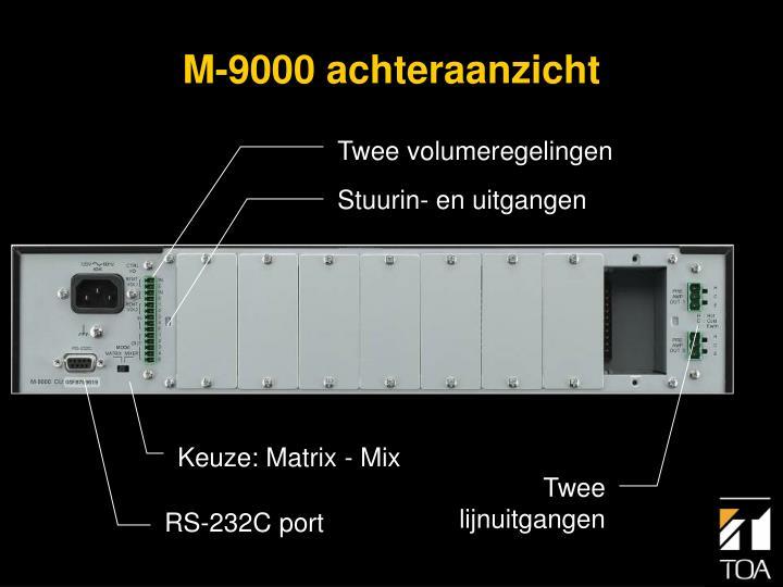 M-9000 achteraanzicht