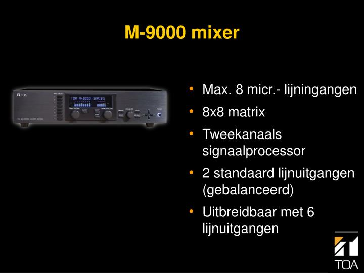 Max. 8 micr.- lijningangen