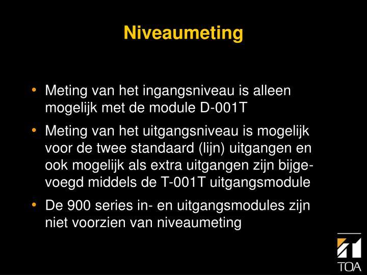 Niveaumeting