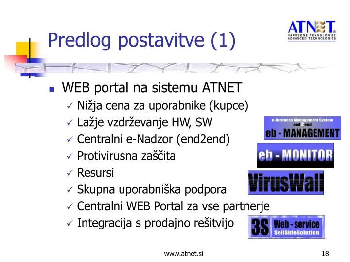 WEB portal na sistemu ATNET