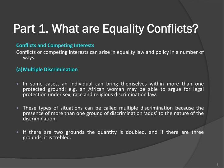 Part 1. What are Equality Conflicts?