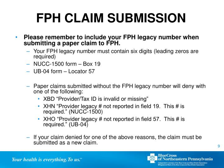 FPH CLAIM SUBMISSION