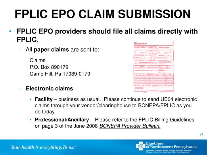 FPLIC EPO CLAIM SUBMISSION