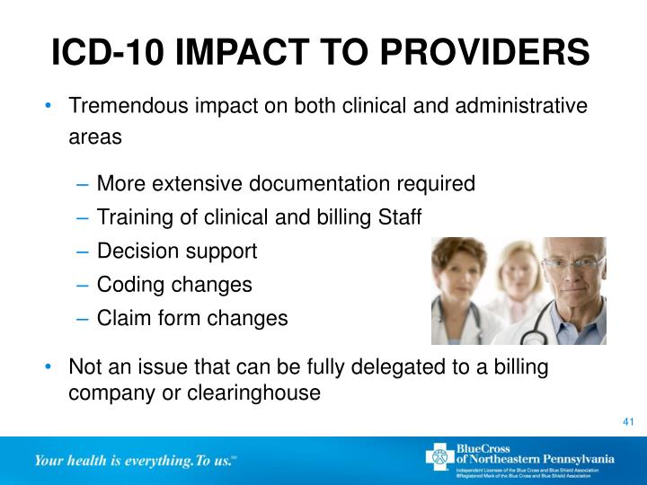 ICD-10 IMPACT TO PROVIDERS