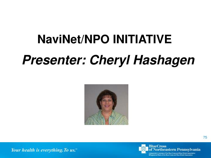 NaviNet/NPO INITIATIVE