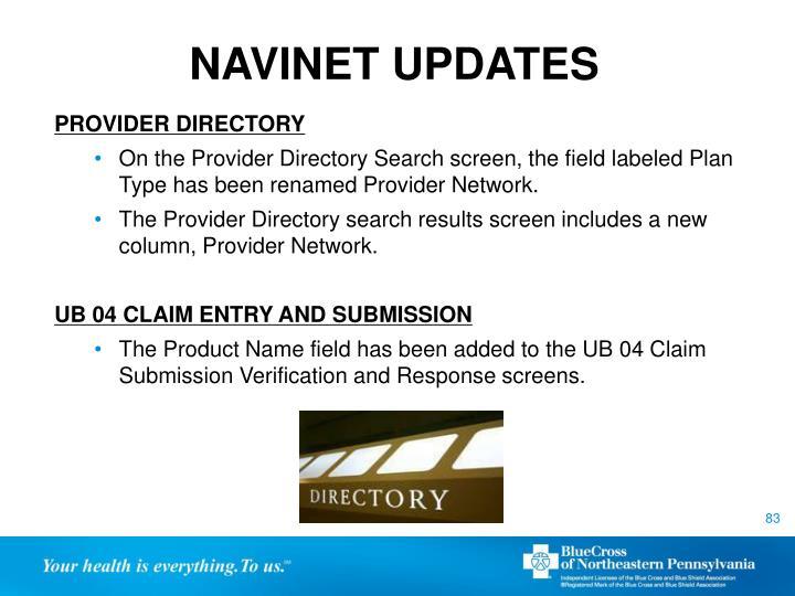 NAVINET UPDATES