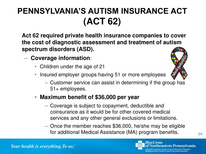 PENNSYLVANIA'S AUTISM INSURANCE ACT
