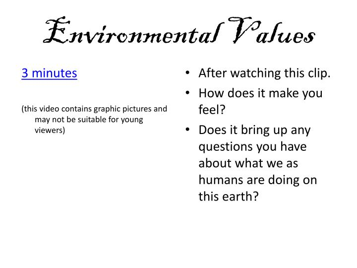 Environmental values2