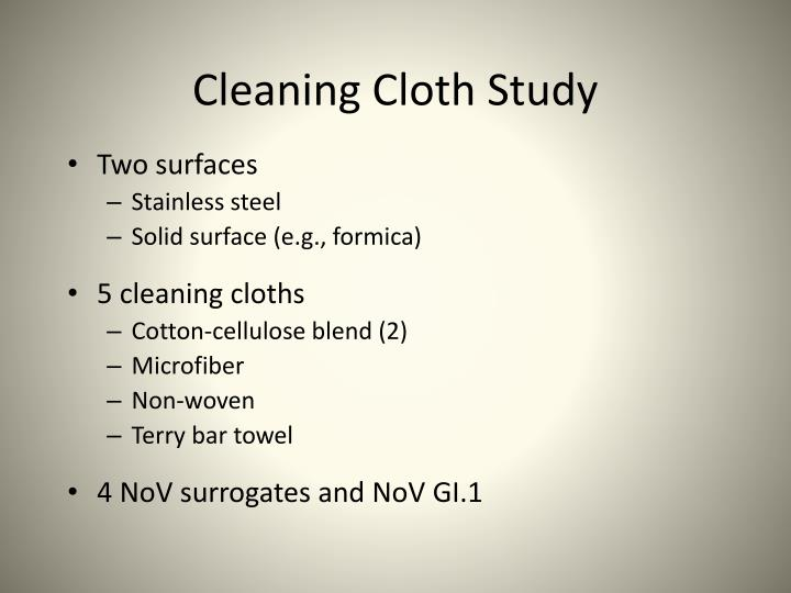 Cleaning Cloth Study