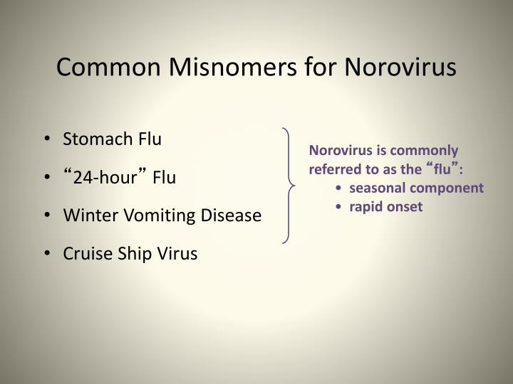 Common Misnomers for Norovirus