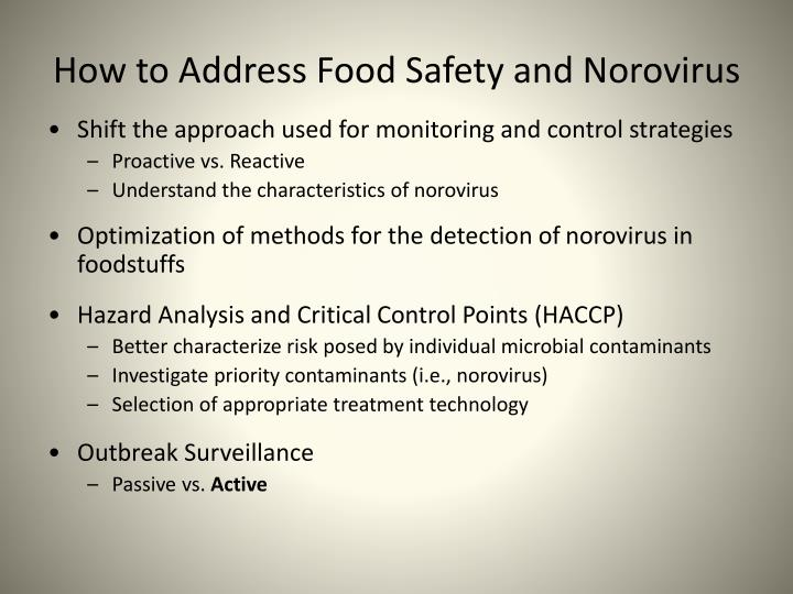 How to Address Food Safety and Norovirus