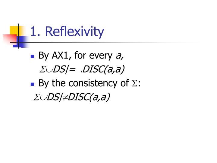 1. Reflexivity