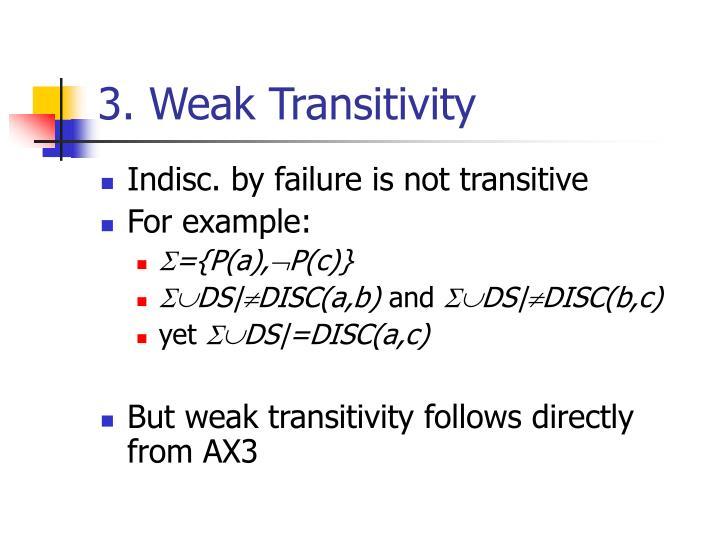 3. Weak Transitivity