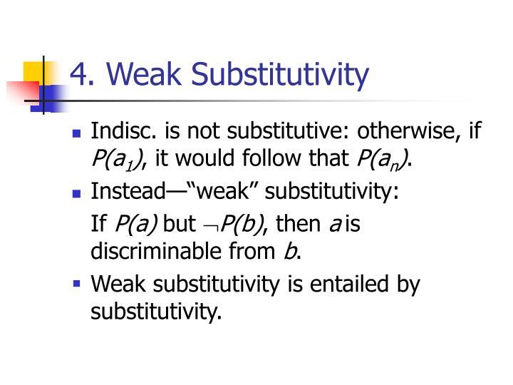 4. Weak Substitutivity