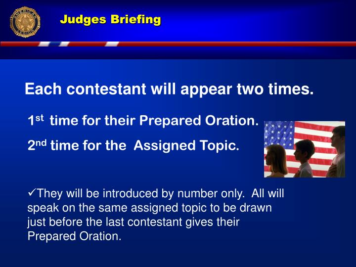 Each contestant will appear two times.