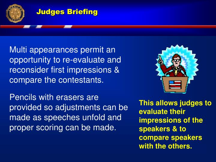 Multi appearances permit an  opportunity to re-evaluate and reconsider first impressions & compare the contestants.