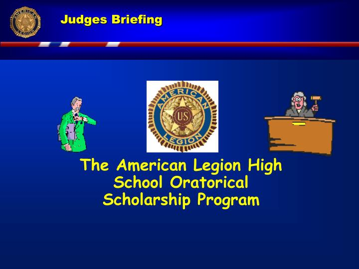 The American Legion High School Oratorical Scholarship Program